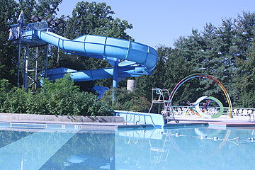 Outdoor Recreation Swimming Pool with Slide