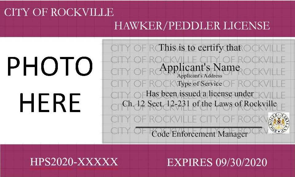 Hawker  and Peddler License