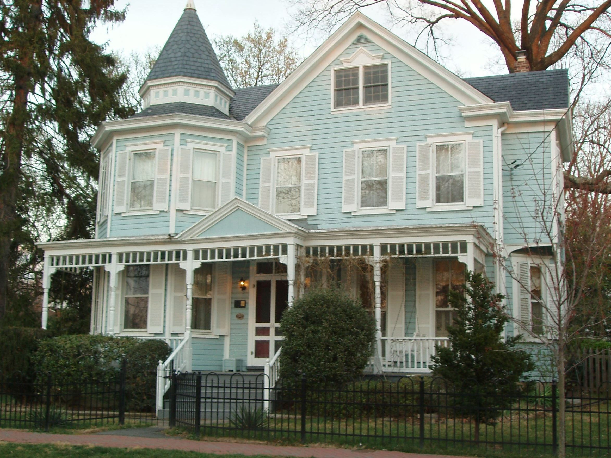 Blue Historic Victorian House